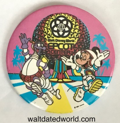 Figment and Mickey Epcot button