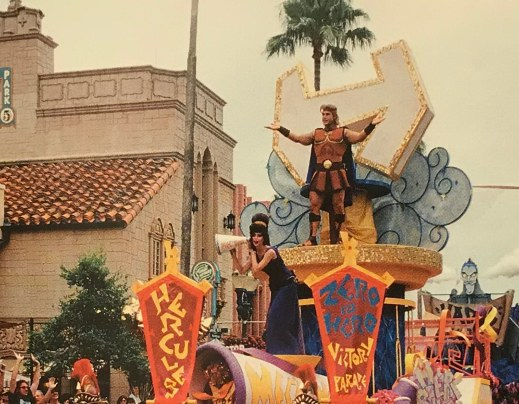 Hercules parade float