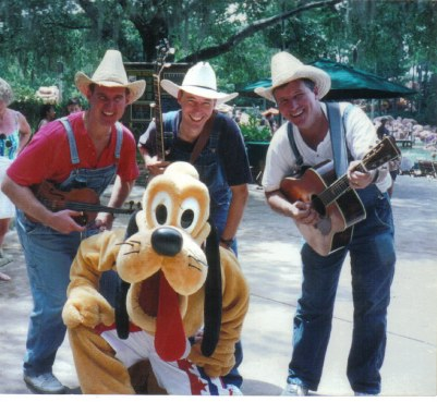 Pluto and band at River Country All American Water Party
