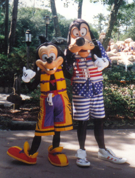Goofy and Max at River Country All American Water Party